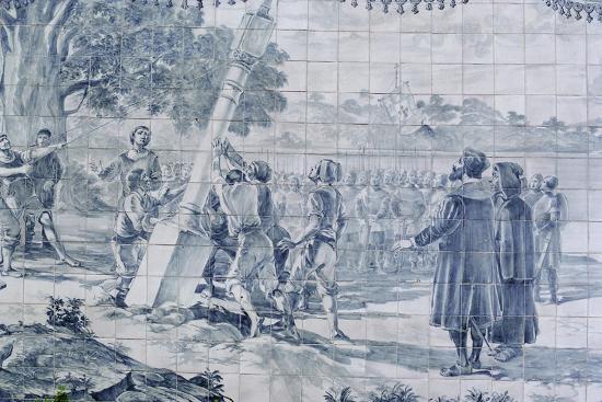 Arrival Of Pedro Alvares Cabral In Brazil Giclee Print At