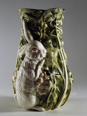 Flower Vase Representing Rabbit and Cabbage