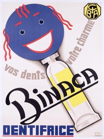 Poster Advertising 'Binaca Dentifrice', C.1938