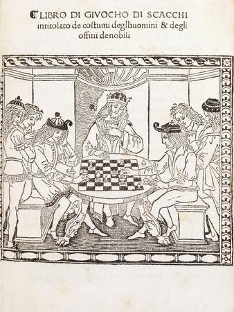 The King and His Courtiers Playing Chess, 1493/4