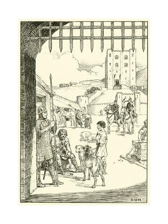 Scene in a Castle Courtyard