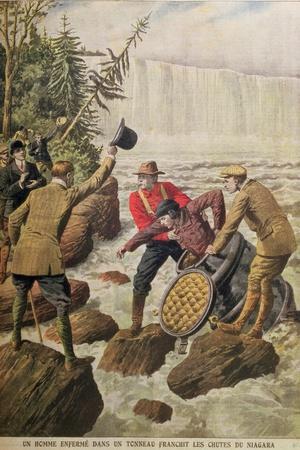 Over Niagara Falls in a Barrel, 1910
