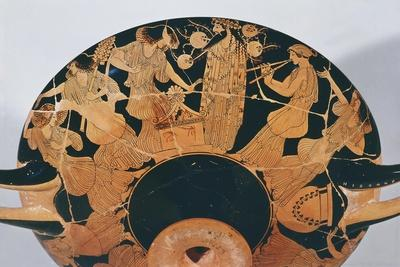 Maenads Dancing, Detail from Kylix