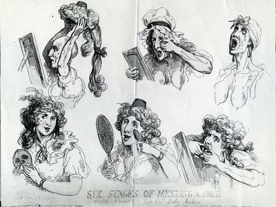 Six Stages of Mending a Face, 1792