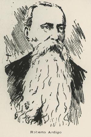 Portrait of Roberto Ardigo