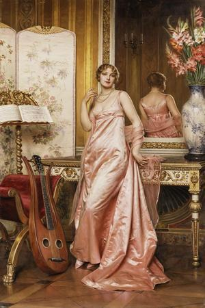An Elegant Lady in an Interior