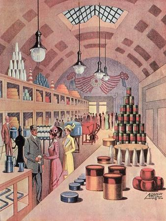 Interior of a Food Store in Milwaukee, 1912