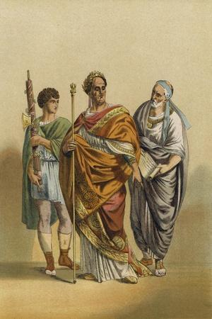 Roman Priest of Jupiter and His Attendants