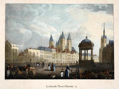 La Grande Place a Tournay, 1816, C.1895