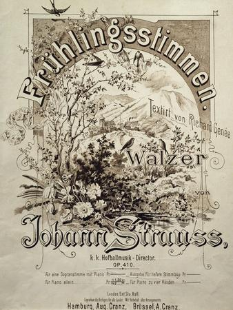 Title Page of Fruhlingsstimmen Walzer