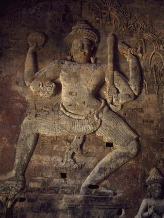 Cambodia, Relief in Prasat Kravan Temple, Angkor