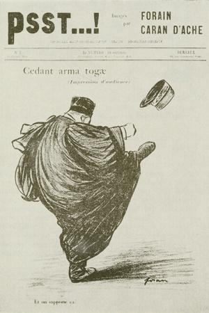 Cedant Arma Togae, No. 3, from 'Psst', 1898