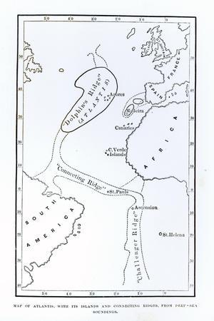 Map Showing the Position of Atlantis
