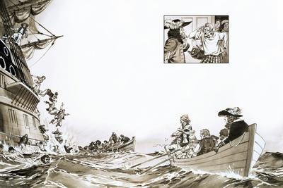 The Duke of York Escaping the Sinking Gloucester