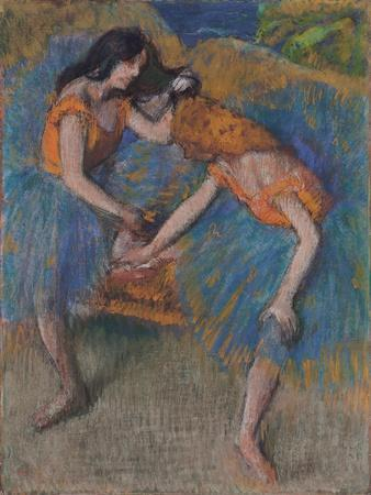 Two Dancers with Yellow Corsages, C.1902