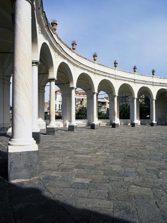 View of Elliptical Portico, Villa Campolieto