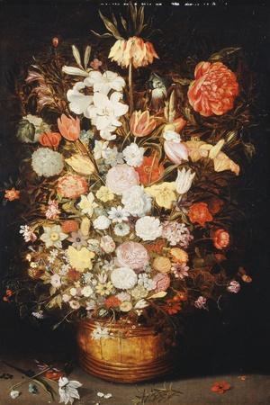 A Still Life of Flowers in a Wooden Tub, C.1630S