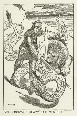 Sir Percivale Slays the Serpent