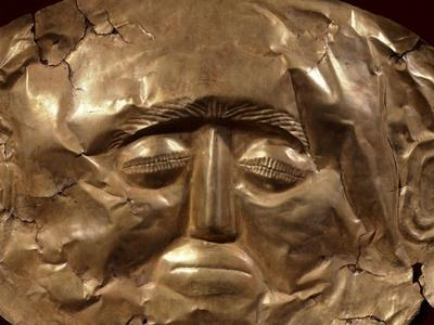 Gold Mask from Tomb Iv of Circle a of Mycenae