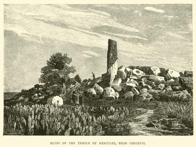 Ruins of the Temple of Hercules, Near Girgenti