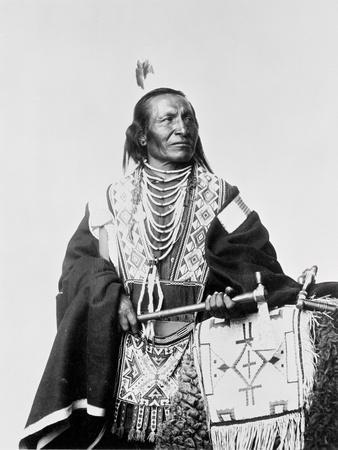 Chief Red Fox, a Sioux Indian, C.1900