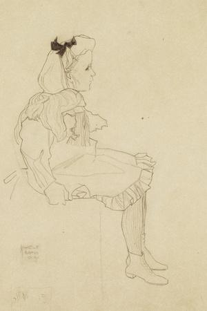 Seated Girl with a Bow in Her Hair, 1909