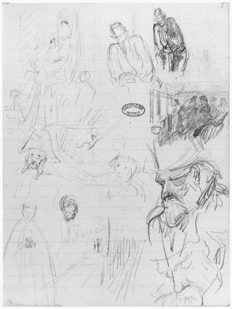 Page of a Sketchbook, 1890-1940