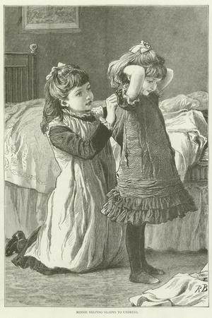 Minnie Helping Gladys to Undress