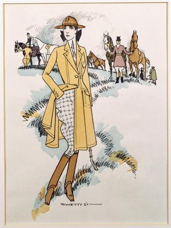 Lady's Equestrian Wear, 1921