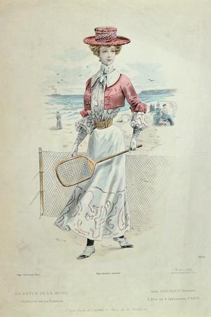 Tennis Outfit, from 'La Revue De La Mode', 1900
