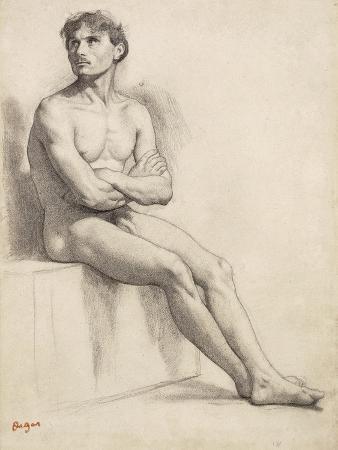 Man Sitting, Nude Study, 1858