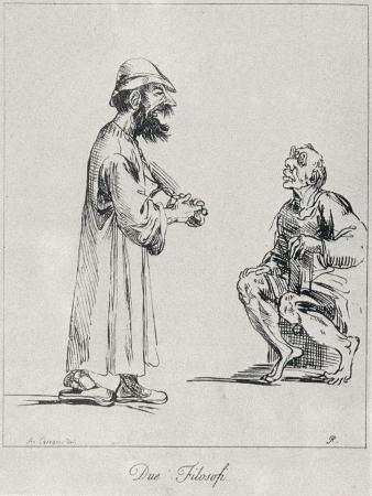 Two Philosophers, Engraved by Arthur Pond, 1739