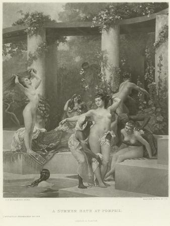 A Summer Bath at Pompeii