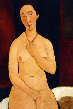 Sitting Nude with Necklace, 1917