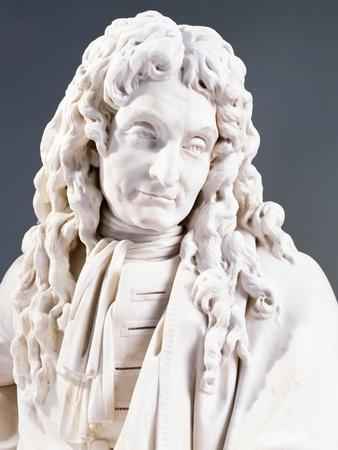 Marble Statue of Jean De La Fontaine