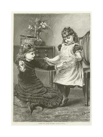 Patty and Jessie Winding Mamma's Wool