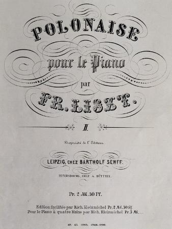 Title Page of Collection of Polish Dances
