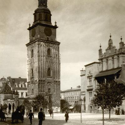 Town Hall Tower, Main Square, Krakow, C.1900