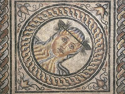 Mosaic Depicting Young Woman