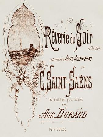 Title Page of Reverie Du Soir