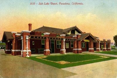 Salt Lake Depot, Pasadena, California, C.1910-35