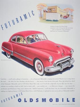 Advertisement for the Oldsmobile Futurmatic, 1948