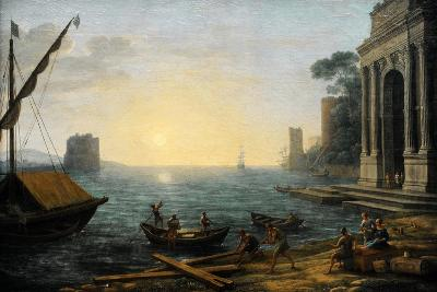 Seaport at Sunrise, 1674
