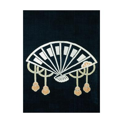 Fan, Detail of Motif Foor Covering Fabric