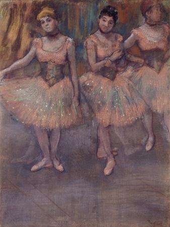 Three Dancers before Practice, C.1880