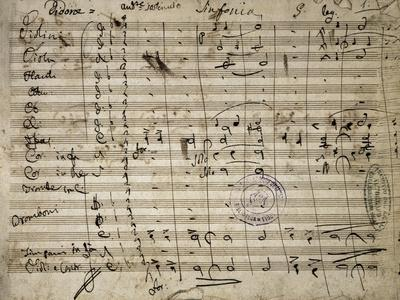 Autograph Sheet Music of Didone