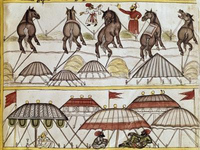 The Horse Market, Miniature from Storia Do Mogor