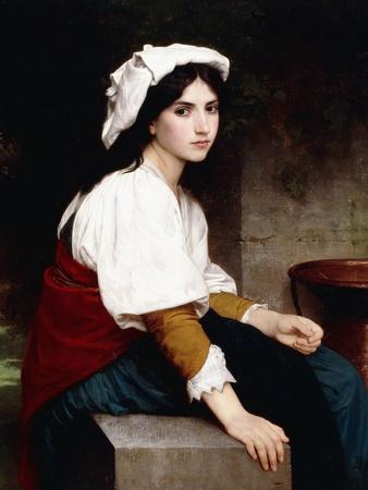 Italian Girl by a Fountain, 1870