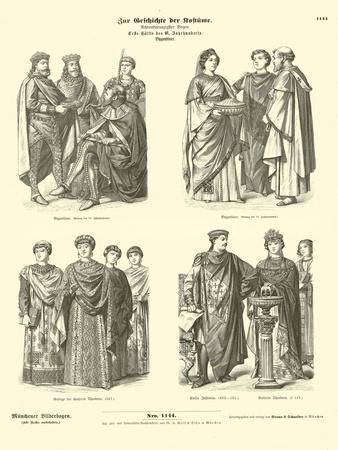 Byzantine Costumes, First Half of 6th Century