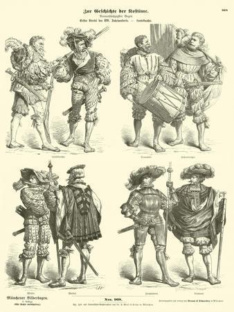 German Landsknechte, Early 16th Century